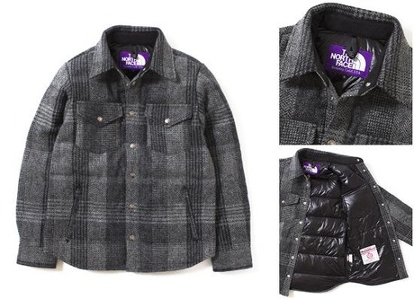 THE NORTH FACE PURPLE LABEL Harris Tweed Down Shirt
