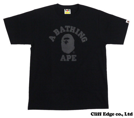A BATHING APE REFLECTIVE COLLEGE TEE