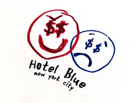 HOTEL BLUE NYC MONEYS EVIL T-SHIRT