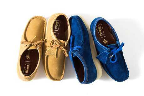 STUSSY X CLARKS ORIGINALS FW 2015 WALLABEE