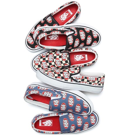 SUPREME x VANS 2017 SS 666 SLIP ON