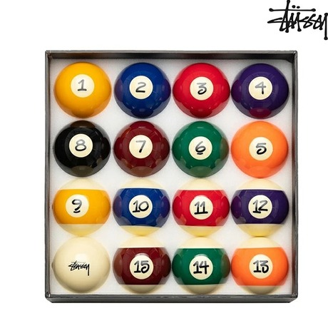 STUSSY BILLIARD BALLS SET JAPER BEES