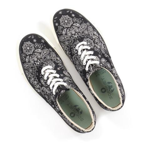 SOPHNET. Cotton Deck Shoes Black Bandana