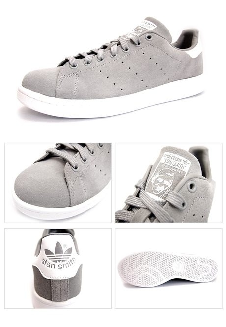 ADIDAS STAN SMITH SOLID GREY/ SOLID GREY/WHITE