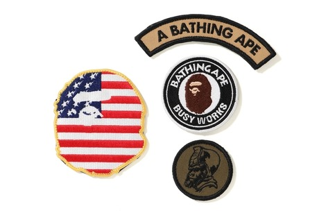 A BATHING APE VERCLO PATCH SET