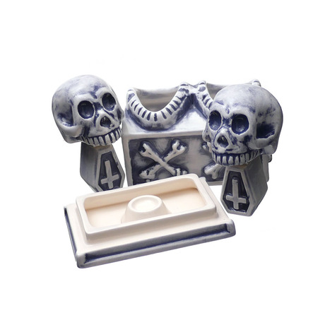 NEIGHBORHOOD 2019 AW BOOZE DUAL SKULL CE INCENSE CHAMBER