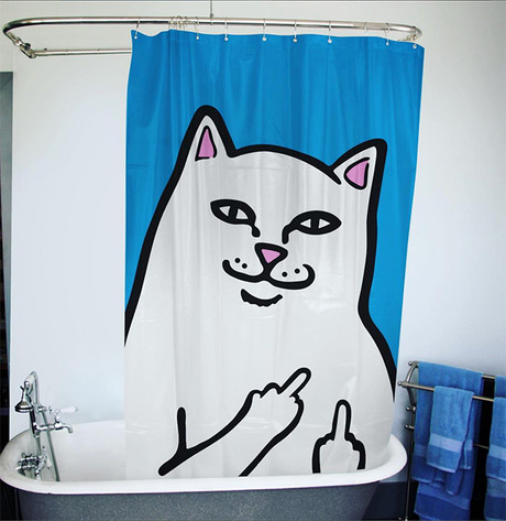RIPNDIP LORD NERMAL SHOWER CURTAIN