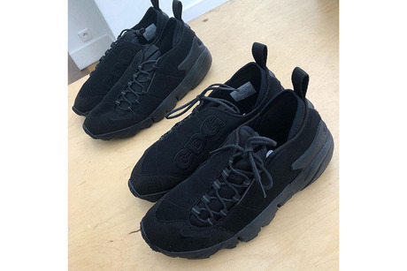 BLACK COMME des GARCONS X NIKE AIR FOOTSCAPE