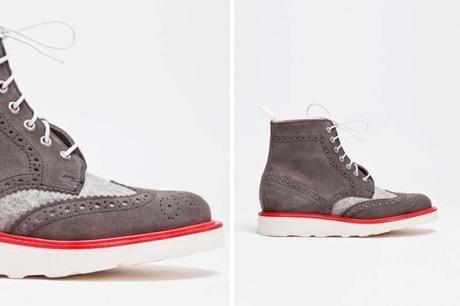Mark McNairy x Tres Bien Wool & Suede Brogue Boot