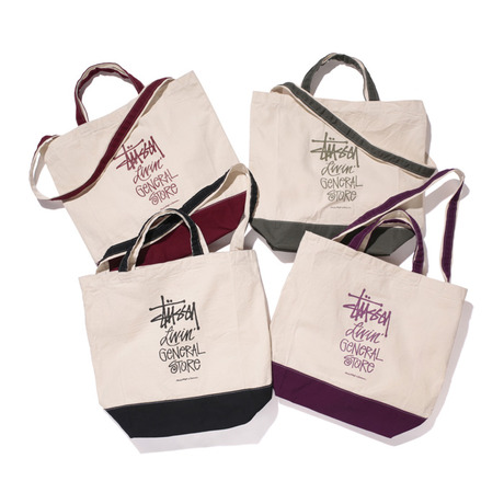 STUSSY LIVIN GENERAL STORE GS 2 WAY TOTE BAG