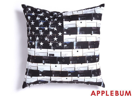 APPLEBUM BLACK STARS&STRIPES CUSHION