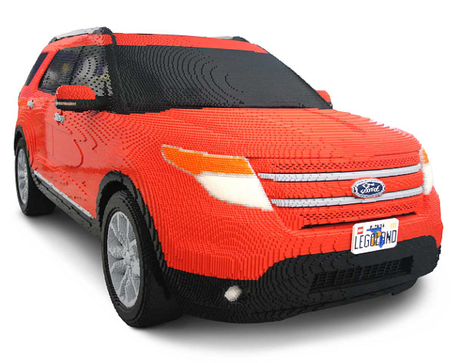 LEGO 1/1 Size Pixelated Ford Explorer Video