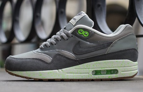 Nike WMNS Air Max 1Mine Grey/Mercury Grey-Flash Lime-Sail