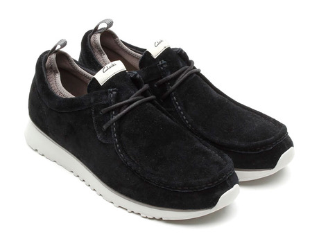 Clarks Tawyer Lo (Black Suede)