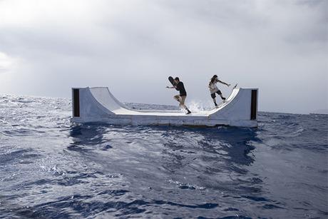 Volcom's Floating Mini Ramp