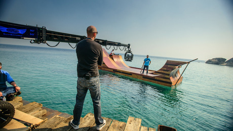 Bob Burnquist's Floating Skate Ramp