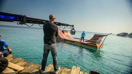 Bob Burnquist's Floating Skate Ramp