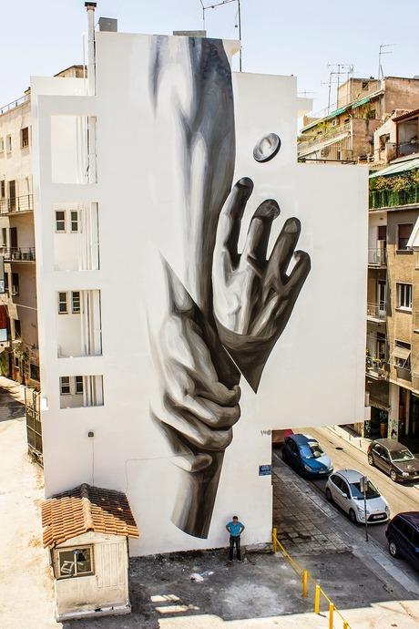 iNO Wake Up New Mural Athens Greece