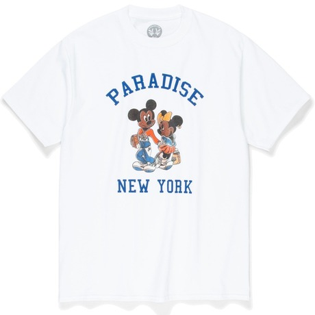 PARADISE3 MICKEY AND MINNIE TEE WHITE
