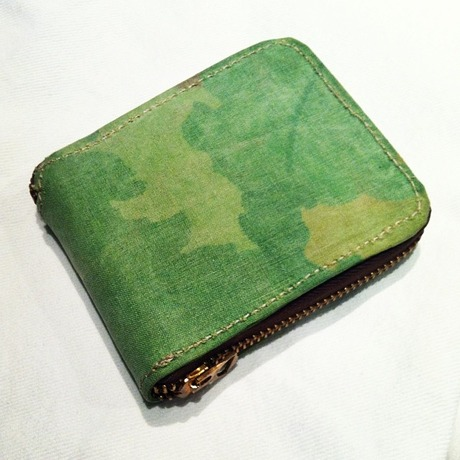 RRL by Ralph Lauren Camo Zip Leather Wallet