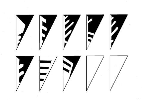雪の結晶紋切り図案