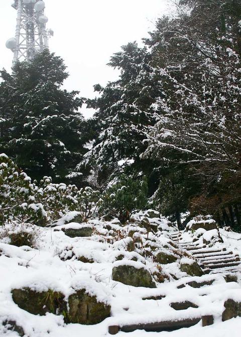 高山区雪景色