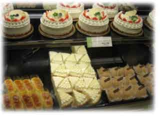 クリスマス後のケーキ屋さん