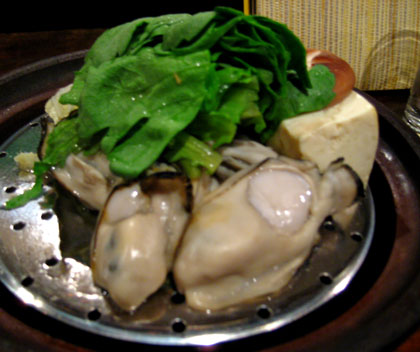 牡蠣の酒蒸し@広島の居酒屋