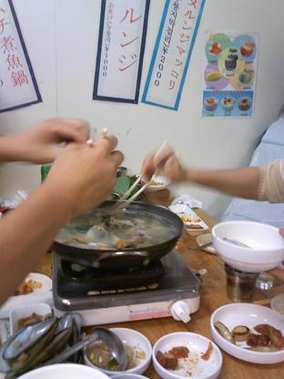 韓国料理の夜