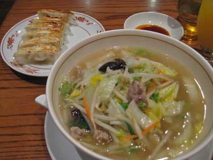 タン麺&餃子