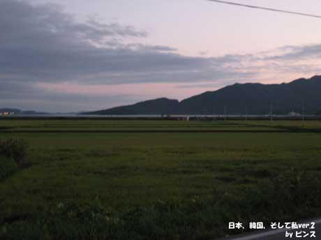 夕暮れの風景@江華島