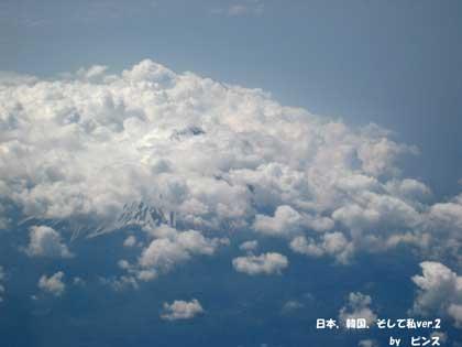 富士山@飛行機からの眺望