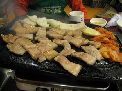 オーギョプサルの夕食