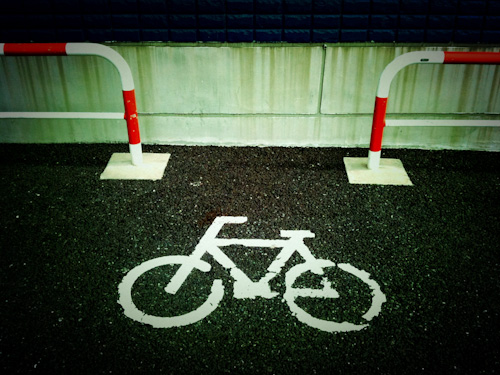 The mark of the bicycle