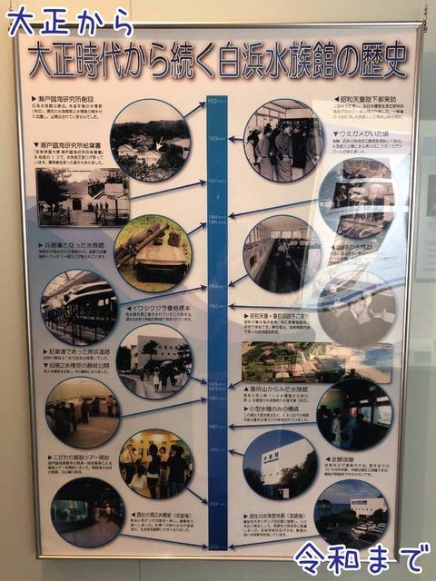 水族館の歴史のパネル