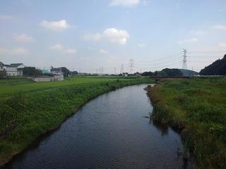 川崎城跡の橋の上からの景色(8月28日に撮影)