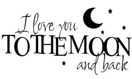 恋愛英語表現 i love you to the moon and back あなたのこと本当に