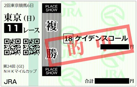 第24回 NHKマイルC・複勝⑱ケイデンスコール - コピー