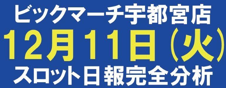 【スロット日報完全分析】12月11日 ビクマ宇都宮店