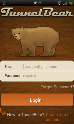 TunnelBear VPN 使い方 (1)