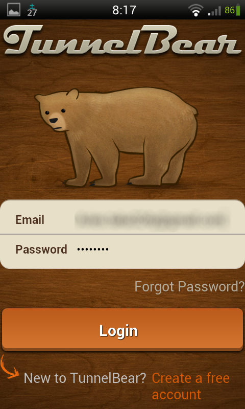 Free tunnelbear login