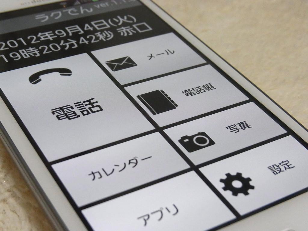 全てのandroidスマートフォンをらくらくスマートフォン化できる魔法の