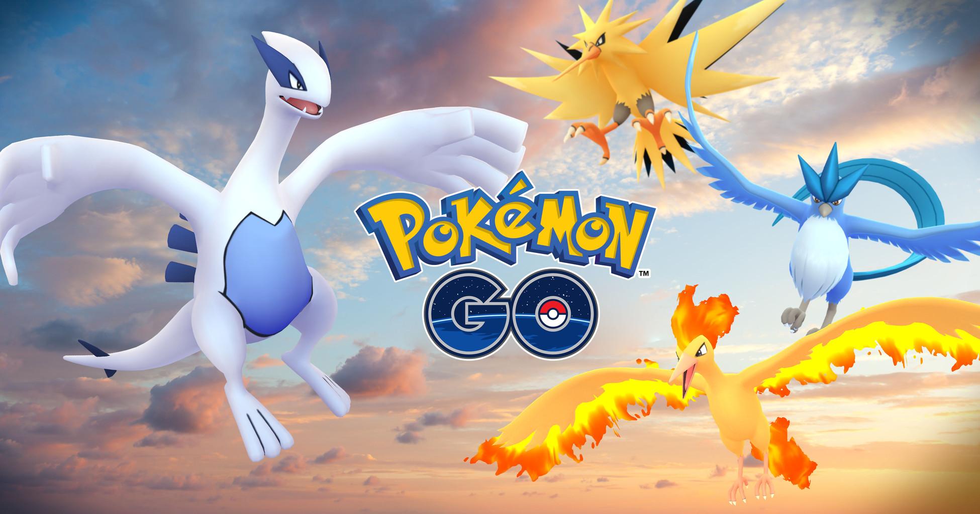 スマホなど向けゲーム「pokemon go」にて伝説のポケモン「ルギア」と