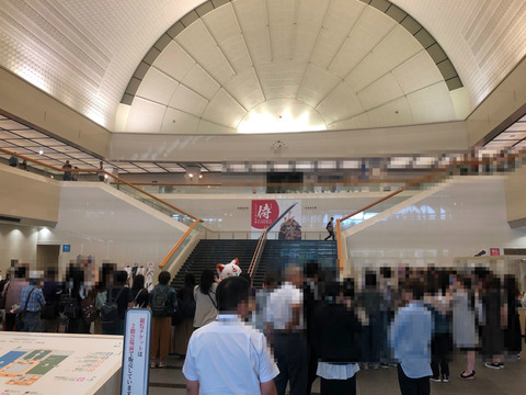 福岡市博物館「侍展」の刀剣乱舞コラボ初日の様子5