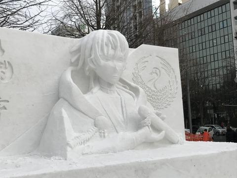 2019さっぽろ札幌雪まつり鶴丸国永つるまる雪像010