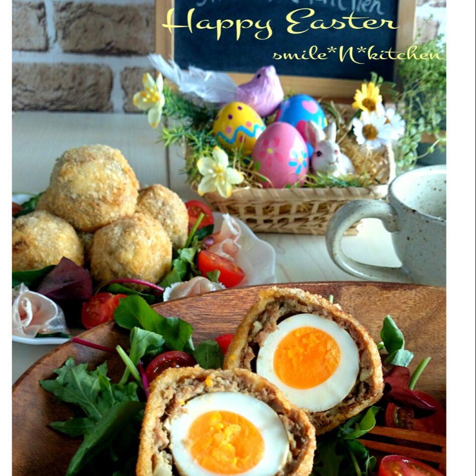 スコッチエッグ*Happy Easter* SnapDish 料理カメラ