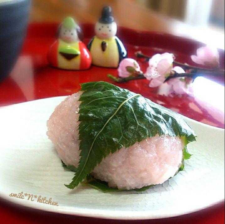 ひな祭り🎎桜餅🌸道明寺粉 SnapDish 料理カメラ