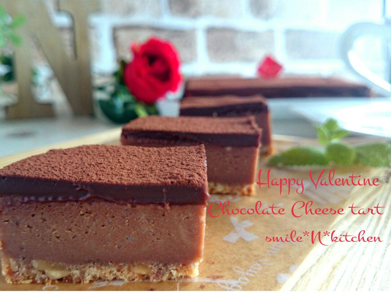 チョコレートチーズケーキタルト♥Valentine SnapDish 料理カメラ