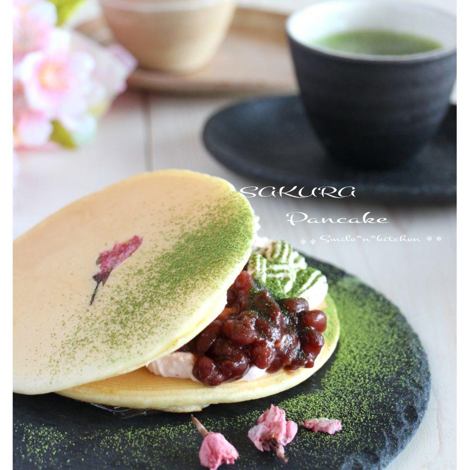 桜パンケーキ SnapDish 料理カメラ