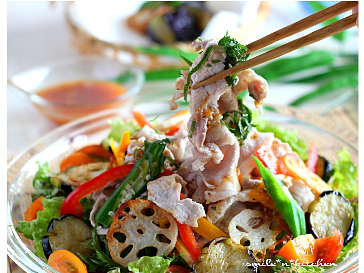 夏野菜と冷しゃぶサラダ SnapDish 料理カメラ